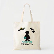 Halloween Vampire with Teal Pumpkin Treat Bag