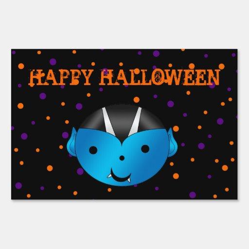 Halloween vampire yard sign