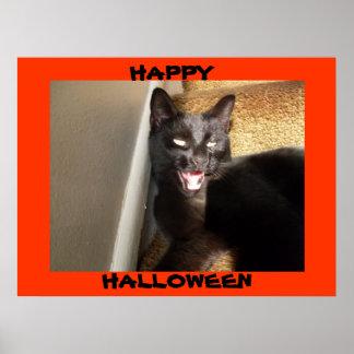 HALLOWEEN VICIOUS BLACK CAT poster