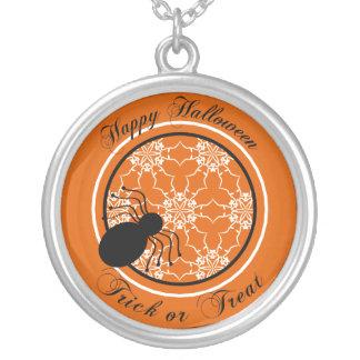 Halloween Victorian Lace Orange Necklace