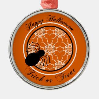 Halloween Victorian Lace Orange Ornament