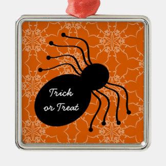 Halloween Victorian Lace Spider Orange Ornament
