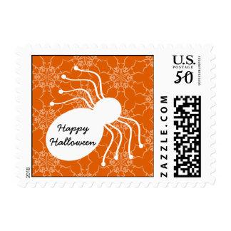 Halloween Victorian Lace Spider Orange Postage