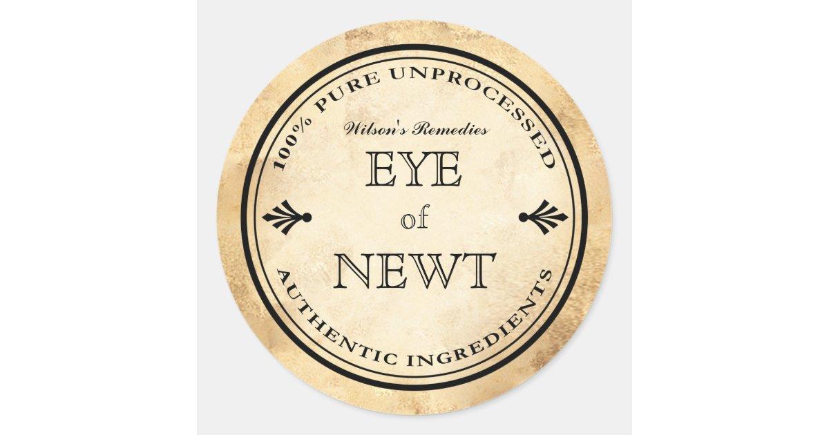 Halloween Vintage Alchemy Eye Of Newt Potion Label