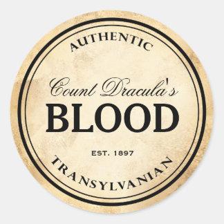 Halloween vintage alchemy vampire blood label