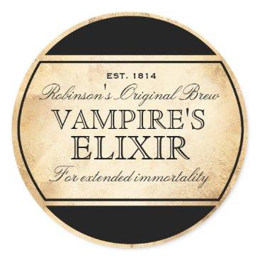 Halloween Themed Halloween vintage alchemy Vampire's Elixir label