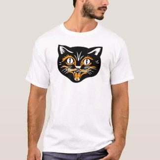 Halloween Vintage Cat Face T-Shirt