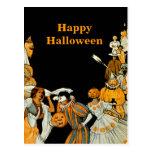 Halloween Vintage Costume Party Postcard