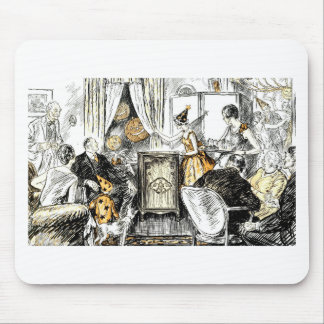 Halloween Vintage Flappers Mouse Pad