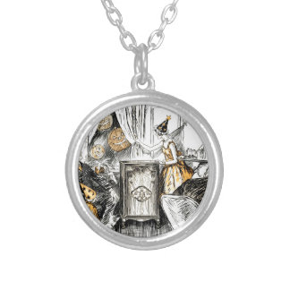 Halloween Vintage Flappers Silver Plated Necklace