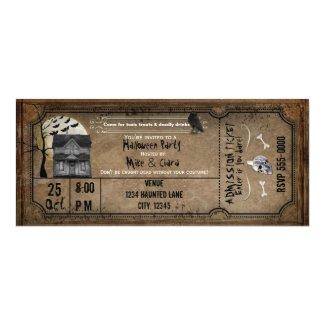 Halloween Vintage Haunted House Ticket Invitation
