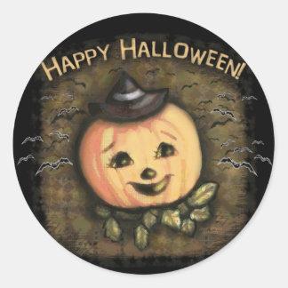 Halloween Vintage Jack O Lantern Stickers