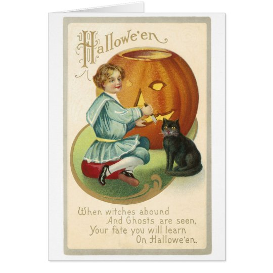 Halloween Vintage Jack O'Lantern Card