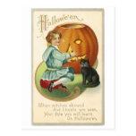 Halloween Vintage Jack O'Lantern Postcard