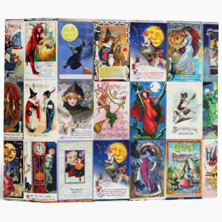 Halloween Vintage Postcard 3 Ring Binder