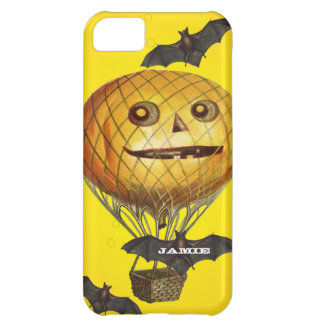 Halloween Vintage Pumpkin Balloon Man and Bats Cover For iPhone 5C