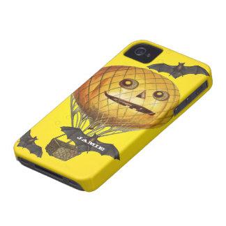 Halloween Vintage Pumpkin Balloon Man and Bats iPhone 4 Case
