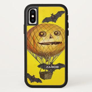Halloween Vintage Pumpkin Balloon Man and Bats iPhone X Case