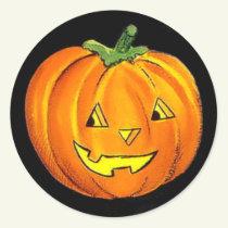 Halloween Vintage Pumpkin Sticker