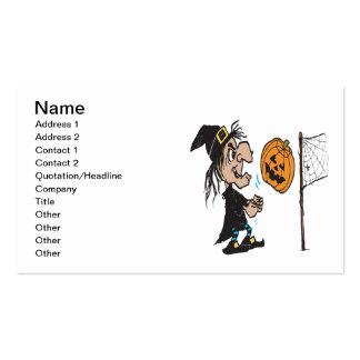Halloween Volleyball Business Card Templates