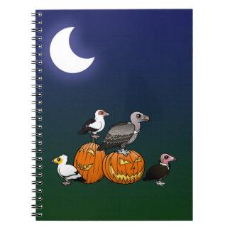 Halloween Vultures Spiral Notebook