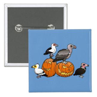 Halloween Vultures Pinback Button