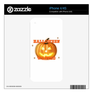 halloween wanted decals for iPhone 4