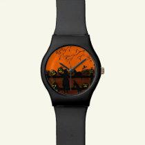 Halloween watch,Halloween Harvest,Jack-O-Lanterns Wristwatch