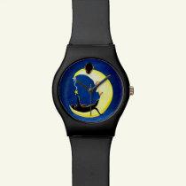 Halloween watch,Salem's Star,black,cats Wrist Watch