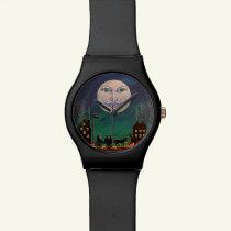 Halloween watch,Witch Moon Wrist Watch