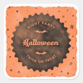 Halloween Watercolor Dots Sticker