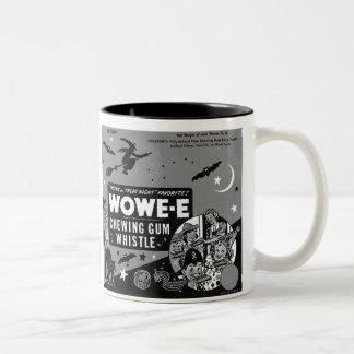 Halloween Wax Whistle Vintage Two-Tone Coffee Mug