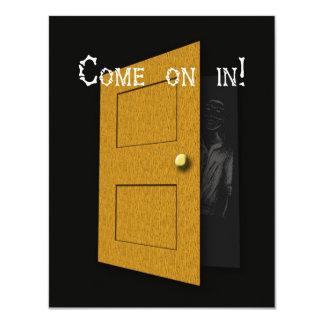 Halloween: We Won't Bite! 4.25x5.5 Paper Invitation Card