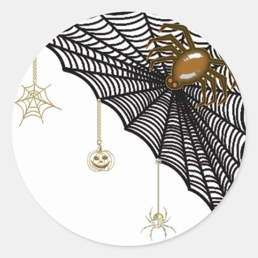 Halloween Web Classic Round Sticker