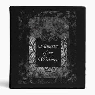 Halloween Wedding Black Rose Avery Binder