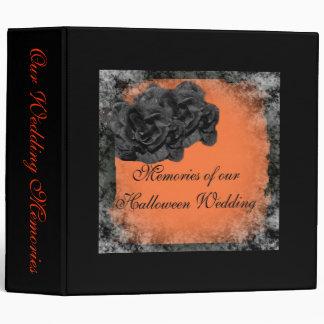 Halloween Wedding Guestbook 3 Ring Binder