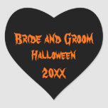 Halloween Wedding Heart Sticker