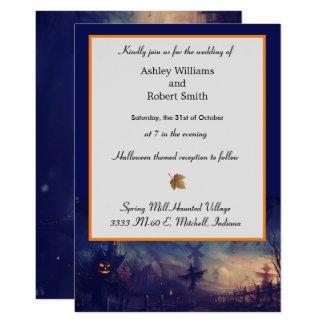 Halloween Wedding Invitation Card Haunted