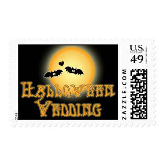 Halloween Wedding Invitation Postage Stamp