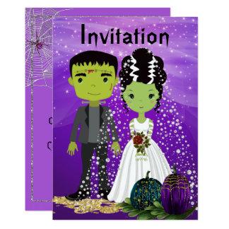 Halloween Wedding Invitation with Bride