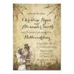 🎃  Halloween Wedding Invitation with Skeleton Couple