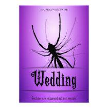 Halloween Wedding Invitations Purple Spider