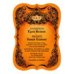 🎃 Halloween Wedding Invite - Orange & Black Border