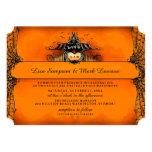 Halloween Wedding Invite - Orange & Black Love