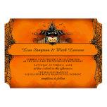 Halloween Wedding Invite - Orange & Black Love Personalized Invite