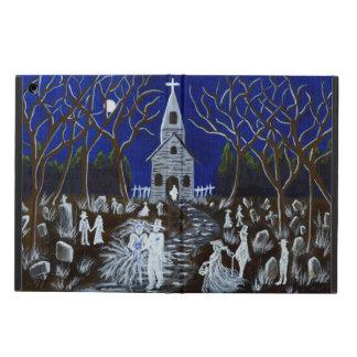 Halloween wedding ipad case ghosts graveyard