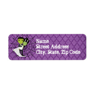 Halloween Wedding Mailing Label Return Address Label