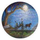"Halloween wedding party plate""Halloween Honeymoon"" Melamine Plate"