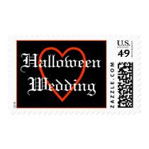 Halloween Wedding Postage with heart