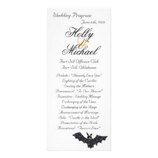 Halloween wedding program chic fun spooky full color rack card